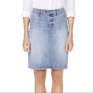 NYDJ snap waist denim skirt biscayne light wash